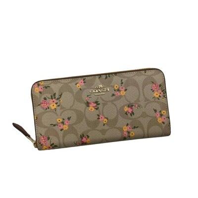 COACH 長夾國際正版保證進口防水防刮皮革U型拉鍊包覆型主袋附品證購證塵套提袋