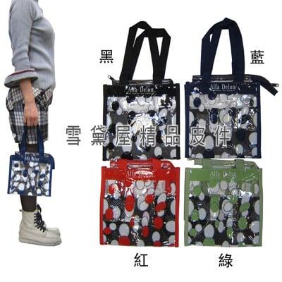 提袋台灣製造品質保證手提肩背小巧購物袋外出游泳簡單便當袋透明防水PVC材質百搭款