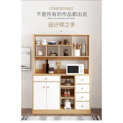 廚房櫃子 儲物櫃 餐邊櫃 現代 簡約 碗櫃 家用 廚房 多功能 櫥櫃 簡易 收納櫃
