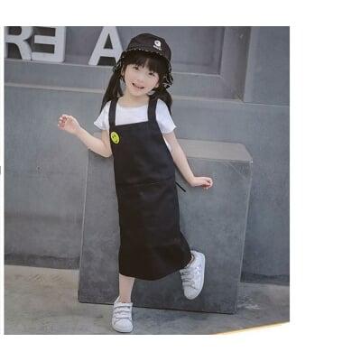 (送胸針)全新韓版兒童圍裙 小朋友圍裙 幼兒園畫畫圍裙  做點心圍裙