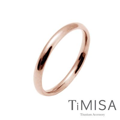 【TiMISA 純鈦飾品】純真 純鈦戒指(玫瑰金)