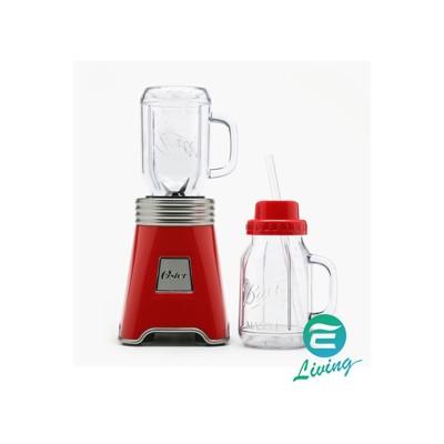 易油網oster mason jar 隨行杯果汁機1機+2杯(紅色) #48449