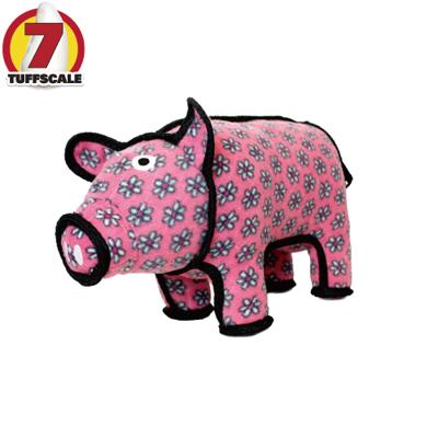 【TUFFY-狗玩具】動物庭院系列:田園波麗花豬