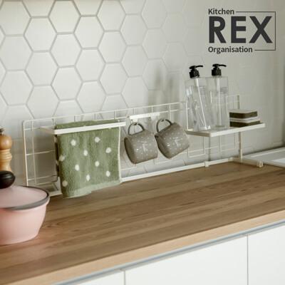 (長形)Rex廚房網格鐵絲鋼架/廚房收納/收納架/置物架/網架/收納/E0066