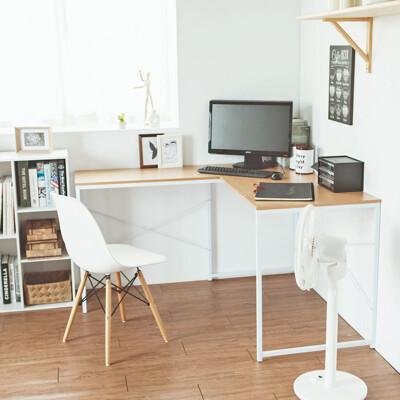 工業風L型工作桌/電腦桌/高腳桌/書桌/辦公桌/桌子/2色/I0136