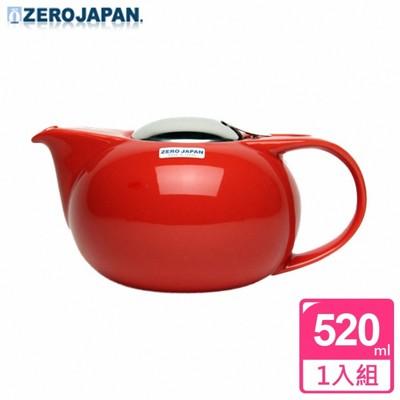 【ZERO JAPAN】嘟嘟陶瓷壺(蕃茄紅) 520cc