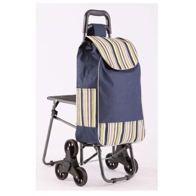 帶凳 六輪買菜籃車 小椅子 購物籃購物袋 拉桿買菜車 輕鬆爬梯車 三輪購物車 可爬樓梯 折疊手推車