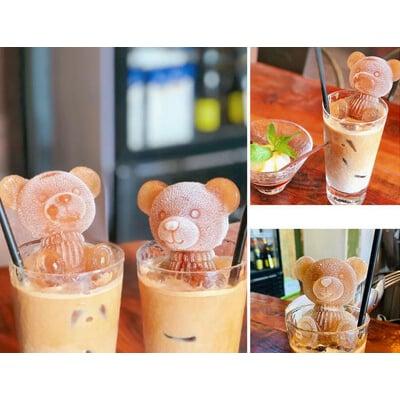【小熊冰塊模具大號款】愛玉抖音同款 手工皂高湯塊慕斯蛋糕甜點 冰膜矽膠模具 冰塊小熊模具