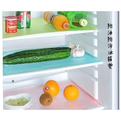 可裁剪防污冰箱墊櫥櫃墊吸潮易清洗隔熱墊4片裝(4片/組)