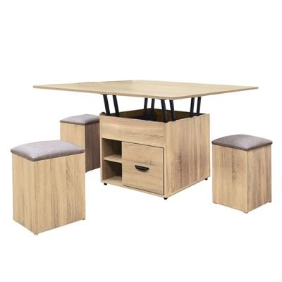 120.5cm大茶几-k42-94實木原木玻璃 大理石長方桌 大小邊几 圓桌  【金滿屋】