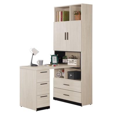 150cm組合書桌櫃-a502-9工業風工作桌 書櫃型書桌 書桌加書櫃 【金滿屋】