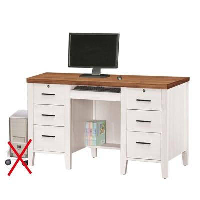 126.5cm電腦桌-a552-3工業風工作桌 書櫃型書桌 書桌加書櫃 【金滿屋】