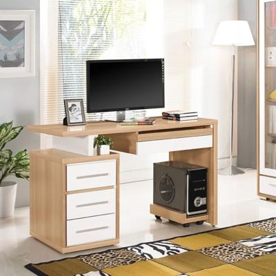 120cm電腦桌-a548-2工業風工作桌 書櫃型書桌 書桌加書櫃 【金滿屋】