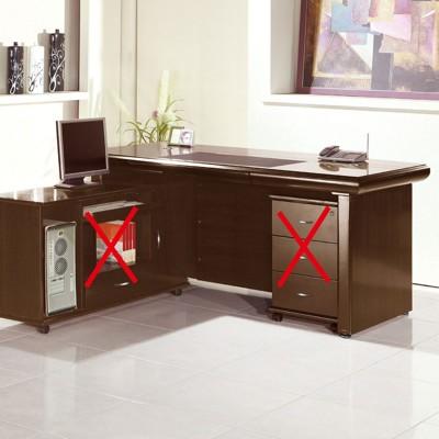 176cm辦公主桌-a558-3工業風工作桌 書櫃型書桌 書桌加書櫃 【金滿屋】