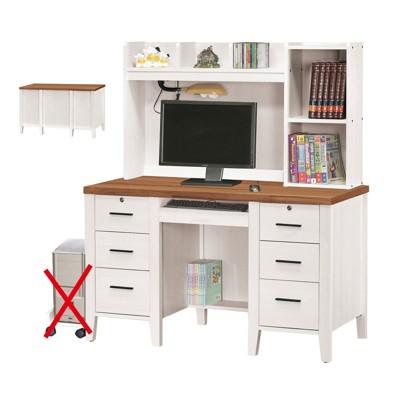 126.5cm電腦桌-a551-3工業風工作桌 書櫃型書桌 書桌加書櫃 【金滿屋】