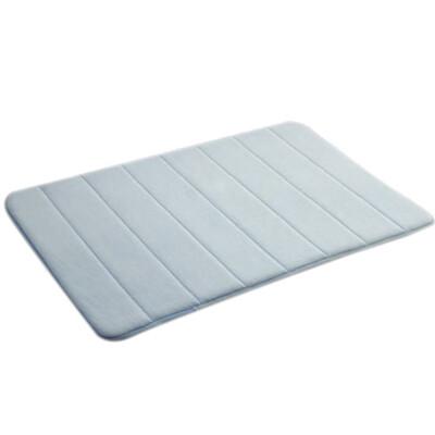記憶地墊  12色40*60 cm珊瑚絨超吸水回彈海綿止滑地毯衛浴防滑踏墊室內外墊子
