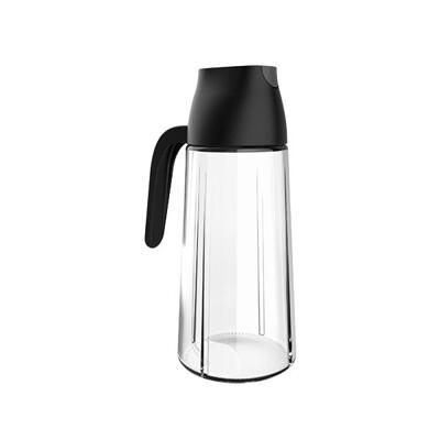 自動開蓋油瓶   640ml廚房免開蓋調味罐 無鉛玻璃醬油罐 防塵醋瓶 防漏自動開合油壺