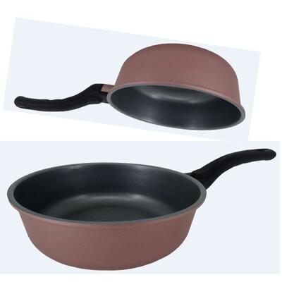 韓國Ecoramic鈦晶石頭抗菌不沾鍋- 20cm小家庭萬用鍋(無附蓋)