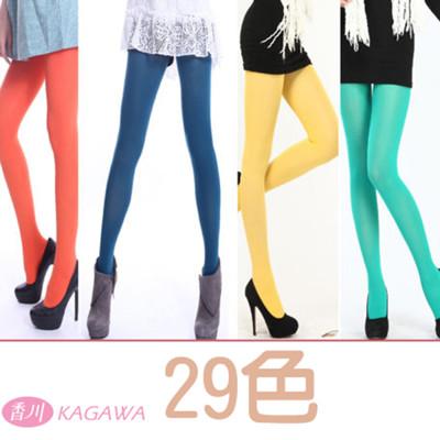 [台灣製]超彈性半透明彩色褲襪 (29色)