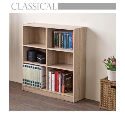 【TZUMii】居家矮六格書櫃/收納櫃-淺橡木