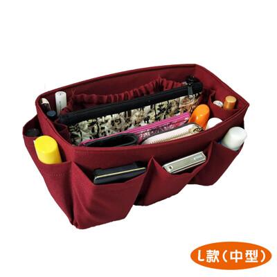 純手工包中包|袋中袋包包不再凌亂|紅色(中型)【歐必買ObuyNow】