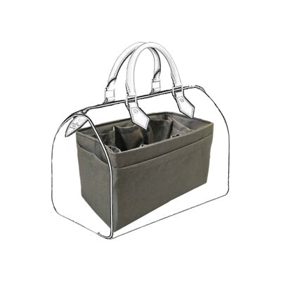 【名牌包收納包中包|適用LV Speedy 30專用包中包|織紋咖啡【歐必買ObuyNow】