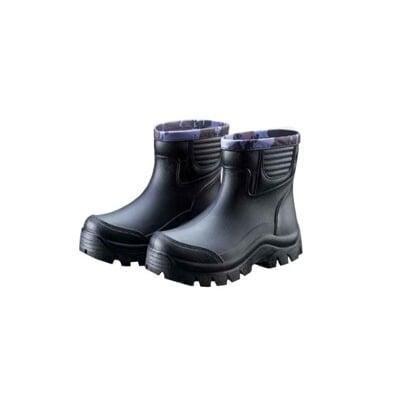 【多功能短筒休閒雨鞋】皇力牌 仿皮紋設計(加厚型)(環保無毒)防水鞋 工作鞋