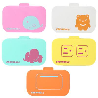 FARANDOLE 法紅荳 嬰幼兒安全防護蓋-可愛五件組 兒童防觸電 插座保護蓋 開關保護蓋