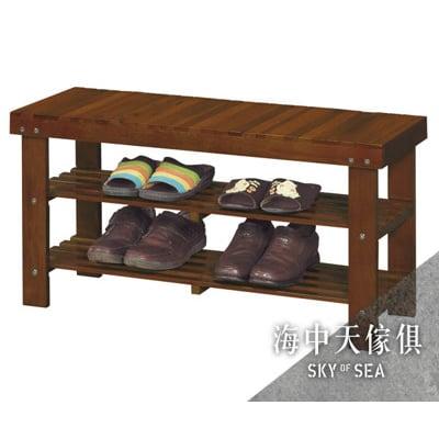{{ 海中天休閒傢俱廣場 }} F-02 摩登時尚 玄關系列 386-2 艾瑪實木3尺坐墊穿鞋椅