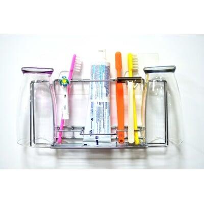 ilf輕鬆黏無痕收納-綜合牙刷架(不鏽鋼)
