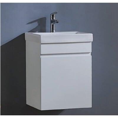 【洗樂適衛浴】KARNS卡尼斯一體瓷盆+單門防水發泡板浴櫃不含龍頭 45CM