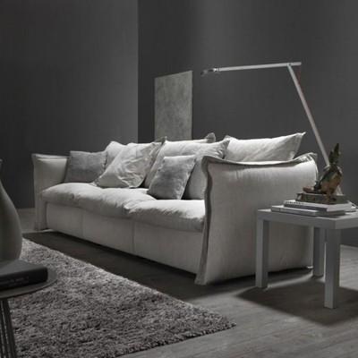 布藝沙發現代簡約客廳整裝三人位乳膠四人位直排北歐沙發小戶型新北購物城