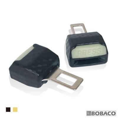 【汽車安全插扣 (2入)】黑色 米色 車用 安全帶子母扣 消音安全插扣