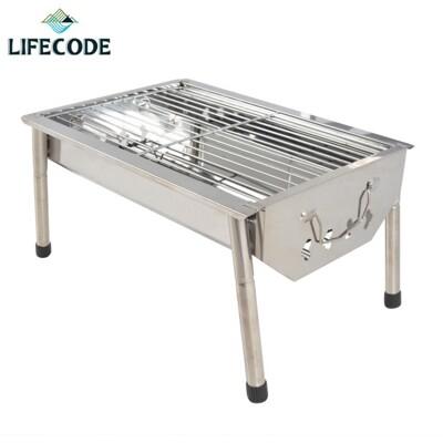 中秋特賣【LIFECODE】不鏽鋼小型烤肉架(可搭配燒烤桌使用)