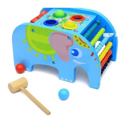 【GCT玩具嚴選】早教大象敲敲樂
