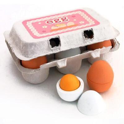 【GCT玩具嚴選】木製仿真雞蛋盒組 療育木製模型玩具