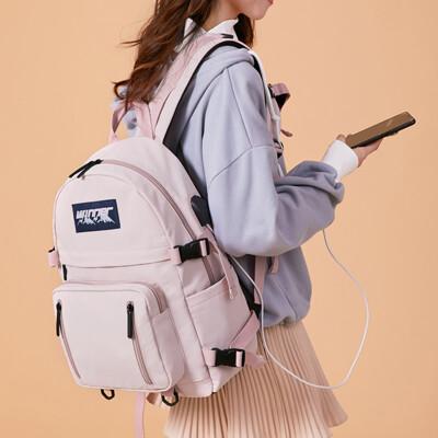 多隔層旅行背包學生書包防水後背包--夏日時光