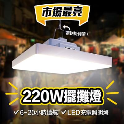 【Gooday新品】220W LED照明燈/露營燈/擺攤燈/緊急照明燈
