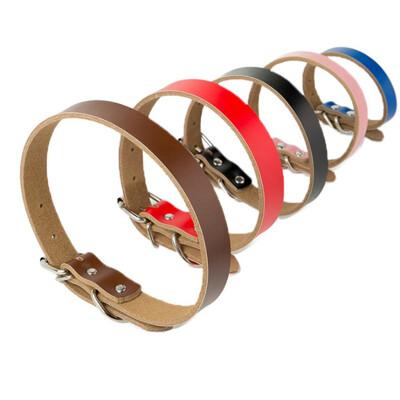 寵物皮革項圈 多種顏色尺寸-UKPL101