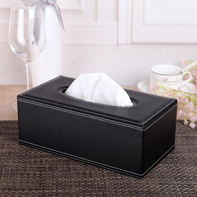 皮質紙巾盒客廳簡約創意餐巾紙盒家用車載紙抽盒辦公室抽紙盒