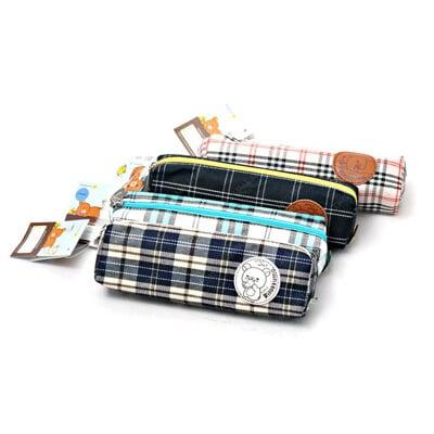 日本San-x 拉拉熊格紋系列 筆袋 收納包 Rilakkuma