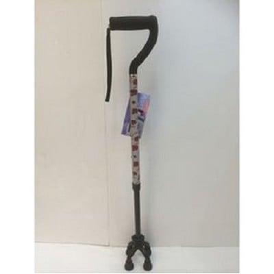 【海夫健康生活館】碳纖四腳反光安全手杖