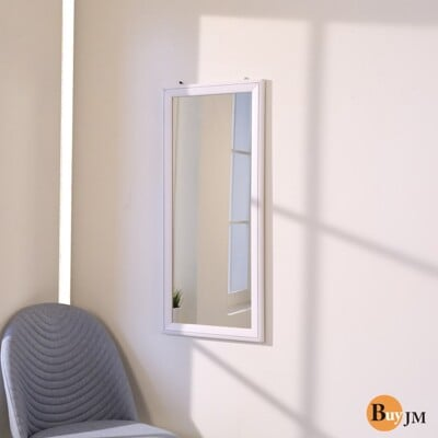 《BuyJM》古典實木壁鏡/穿衣鏡(90*40公分) W-K-MR559WH
