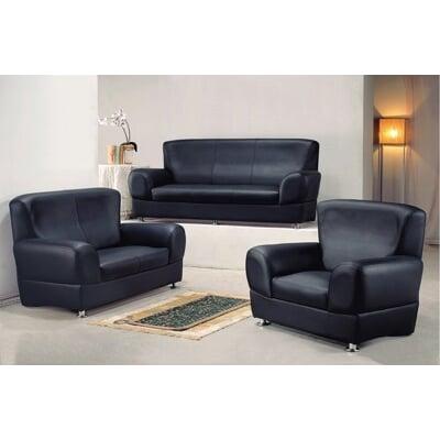 【MUNA】503型黑色皮沙發(整組)