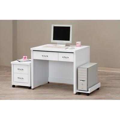 【MUNA】馬克斯白色3尺書桌(不含活動櫃和主機架)