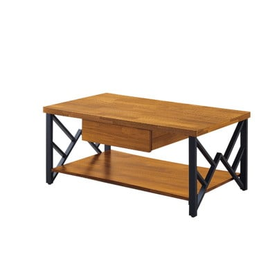 【MUNA】泰倫積層木色4尺鐵架大茶几