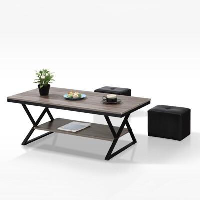 【MUNA】TB011型4尺鐵架茶几(共三色)(含小椅X2)