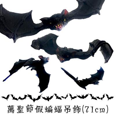 萬聖節 吊掛蝙蝠 黑蝙蝠 (71cm 小號) 假蝙蝠 蝙蝠吊飾 掛飾 吊掛蝙蝠 鬼屋布置 裝飾