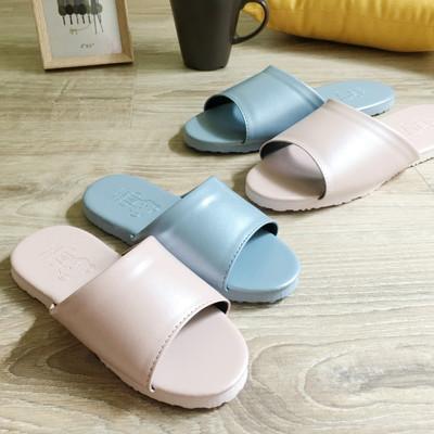 MyQBear 極致純色-親子皮質室內拖鞋
