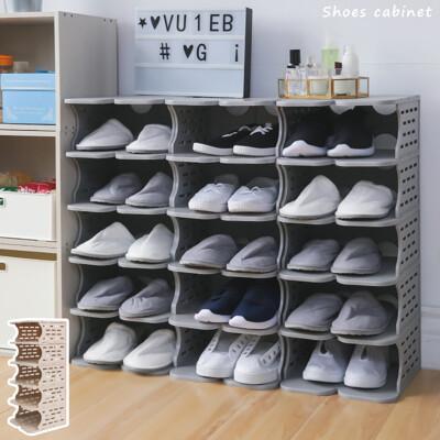 6層塑膠鞋櫃 可拆裝鞋櫃 鞋子收納 拖鞋架 拖鞋收納 玄關鞋櫃 塑膠鞋架 SD 宅貨